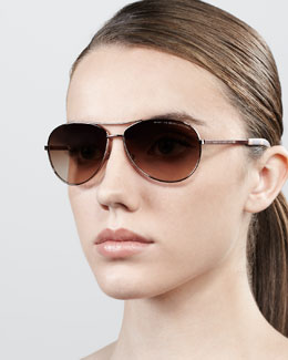 MARC by Marc Jacobs Aviator Sunglasses, Rose Golden