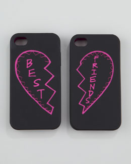 Rebecca Minkoff Best Friends iPhone 4 Case Set, Black/Pink