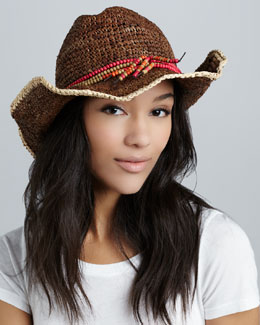 Michael Stars Beaded Tassel Hat, Java