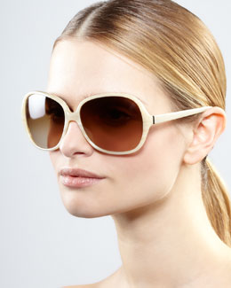 Oliver Peoples AERIN Isobel Sunglasses, Off White