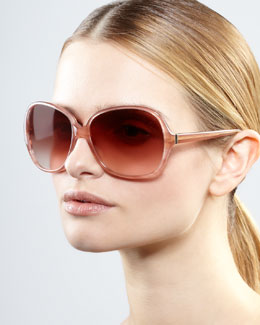 Oliver Peoples AERIN Isobel Sunglasses, Pink