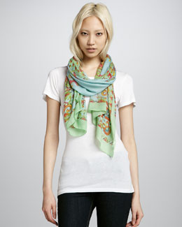 Michael Stars Calypso Coral Scarf, Sea Glass