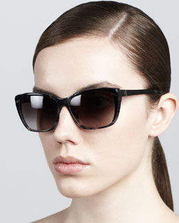 Carolina Herrera Modified Resin Sunglasses, Gray