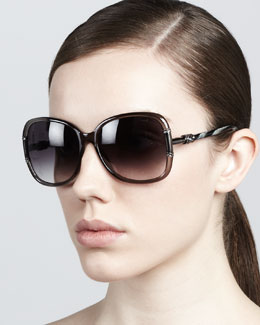 Lanvin Butterfly Sunglasses, Gray