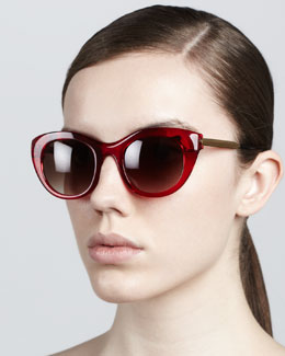 Thierry Lasry Poetry Soft Cat-Eye Sunglasses, Red