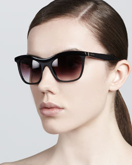 Prada Defined-Bridge Sunglasses, Black