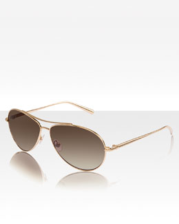 David Yurman Waverly Aviators, Gold