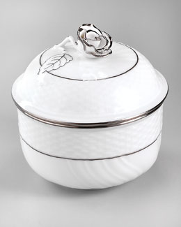 Herend Platinum Edge Sugar Bowl