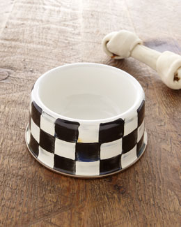 MacKenzie-Childs Medium Courtly Check Pet Bowl