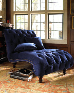 "Old Hickory Tannery ""Royal Marco"" Chaise"