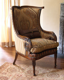 "Jeff Zimmerman Collection by Key City ""Gretchen"" Wingback Chair"