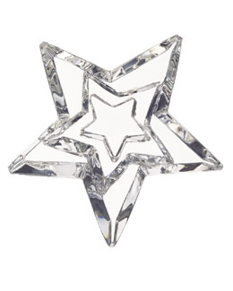 Baccarat Three Stars Paperweight