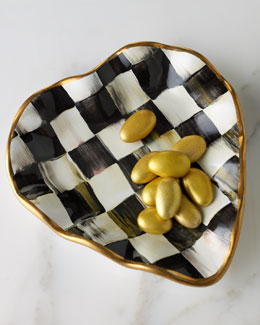 "MacKenzie-Childs ""Courtly Check"" Heart Plate"
