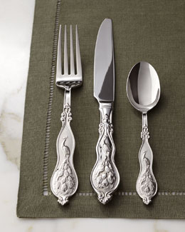 "Wallace 45-Piece ""Peacock"" Flatware Service"