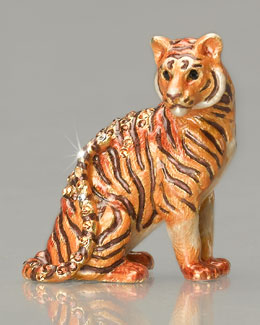 "Jay Strongwater ""Anthony"" Tiger Mini Figurine"