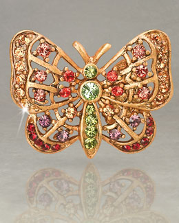 "Jay Strongwater ""Carrie"" Butterfly Tack Pin"