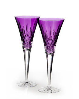 Waterford Crystal Lismore Jewels Amethyst Toasting Flute