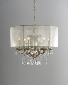John-Richard Collection Veiled Shade Chandelier