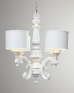 BARBARA COSGROVE White Baroque Chandelier
