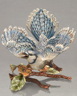 "Jay Strongwater ""Courbett"" Blue Jay on Branch Figure"