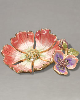 "Jay Strongwater ""Maya"" Flower Trinket Tray"