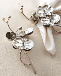"Vagabond House Four ""Orchid"" Napkin Rings"