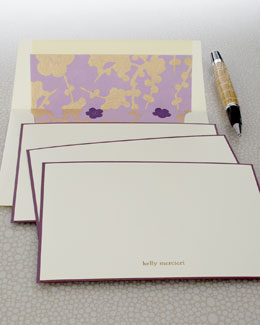 "Checkerboard Eight ""Violet"" Cards & Envelopes"