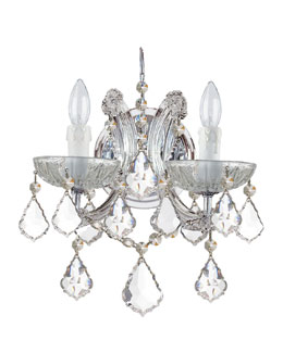 "Crystorama ""Ariana"" Two-Light Crystal Sconce"