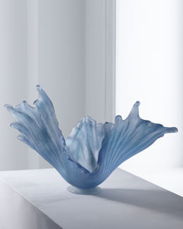 "Amanda Brisbane ""Pale Ice"" Glass Bowl"
