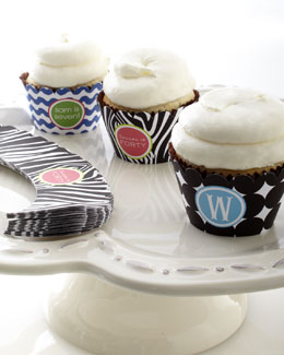 24 Personalized Cupcake Bands