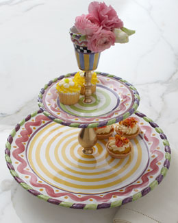 "MacKenzie-Childs ""Piccadilly"" Grandstand Tiered Server"