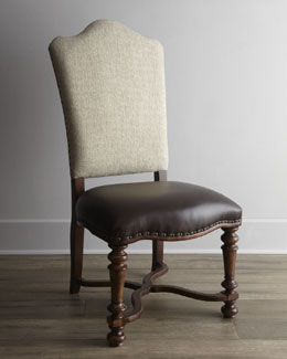 "Two ""Agatha"" Upholstered Side Chairs"