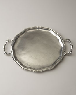 ValPeltro Handled Pewter Charger Plate