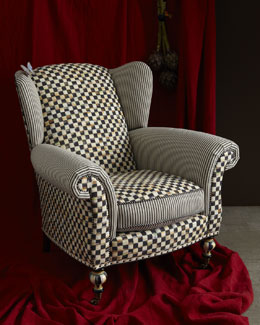 MacKenzie-Childs Underpinnings Classic Wing Chair