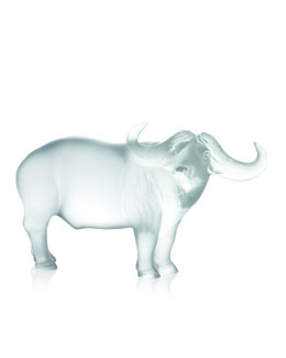 Lalique Crystal Water Buffalo Figurine
