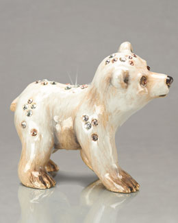 "Jay Strongwater ""Siku"" Mini Polar Bear Figurine"