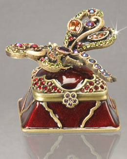 "Jay Strongwater ""Malka"" Dragonfly Box"