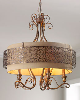 John-Richard Collection Etched Gold Chandelier