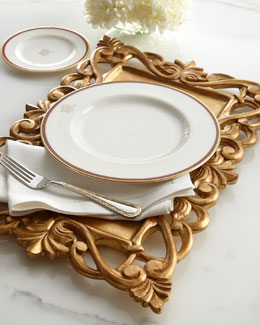 NM EXCLUSIVE Golden Carved-Wood Placemat