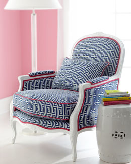 """Lilly Pulitzer """"Johanna"""" Upholstered Armchair"""