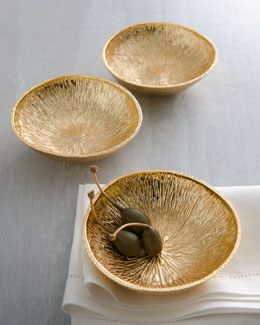 "Michael Aram Three ""Lemonwood"" Bowls"