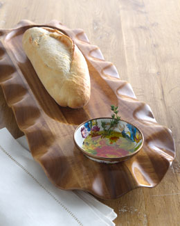 "MacKenzie-Childs ""Flower Market"" Bread & Oil Platter"