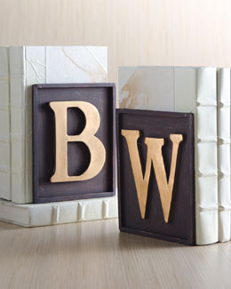 Dr. Livingston Monogrammed Bookend