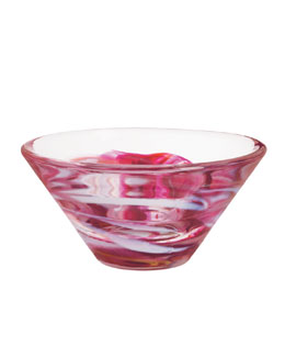 Kosta Boda Medium Pink Tempera Bowl