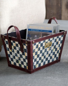 MacKenzie-Childs Courtly Check Magazine Bin