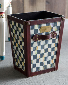 MacKenzie-Childs Courtly Check Waste Basket