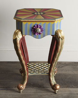 "MacKenzie-Childs ""Epaulet"" Accent Table"