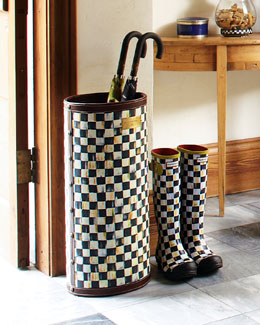 MacKenzie-Childs Courtly Check Umbrella Stand