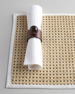 "Juliska Four Rectangle ""Caning"" Place Mats"