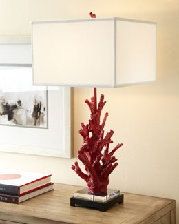"Regina-Andrew Design ""Red Coral"" Lamp"